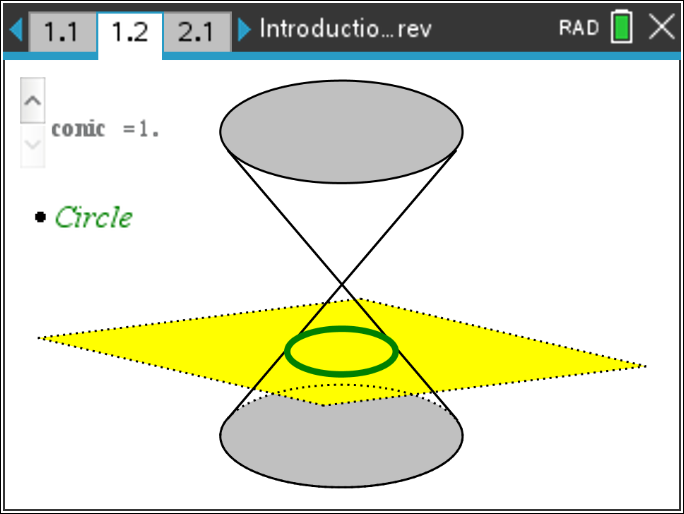 Precalculus: Introduction to Conic Sections: Precalculus: TI