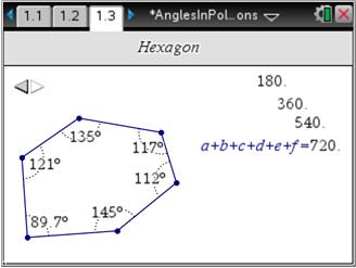 In This Activity, Students Measure Interior Angles In Convex Polygons And  Use The Calculate Tool To Find The Sum Of The Angle Measures.