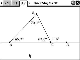Classroom Activities Interior amp Exterior Angles of a Triangle