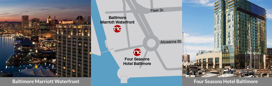 Baltimore Marriott Waterfront and Four Seasons Hotel Baltimore