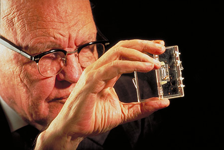 jack kilby dayin 1958, technology as we knew it changed forever on sept 12, 1958, jack kilby, a ti engineer and innovator, invented the integrated circuit