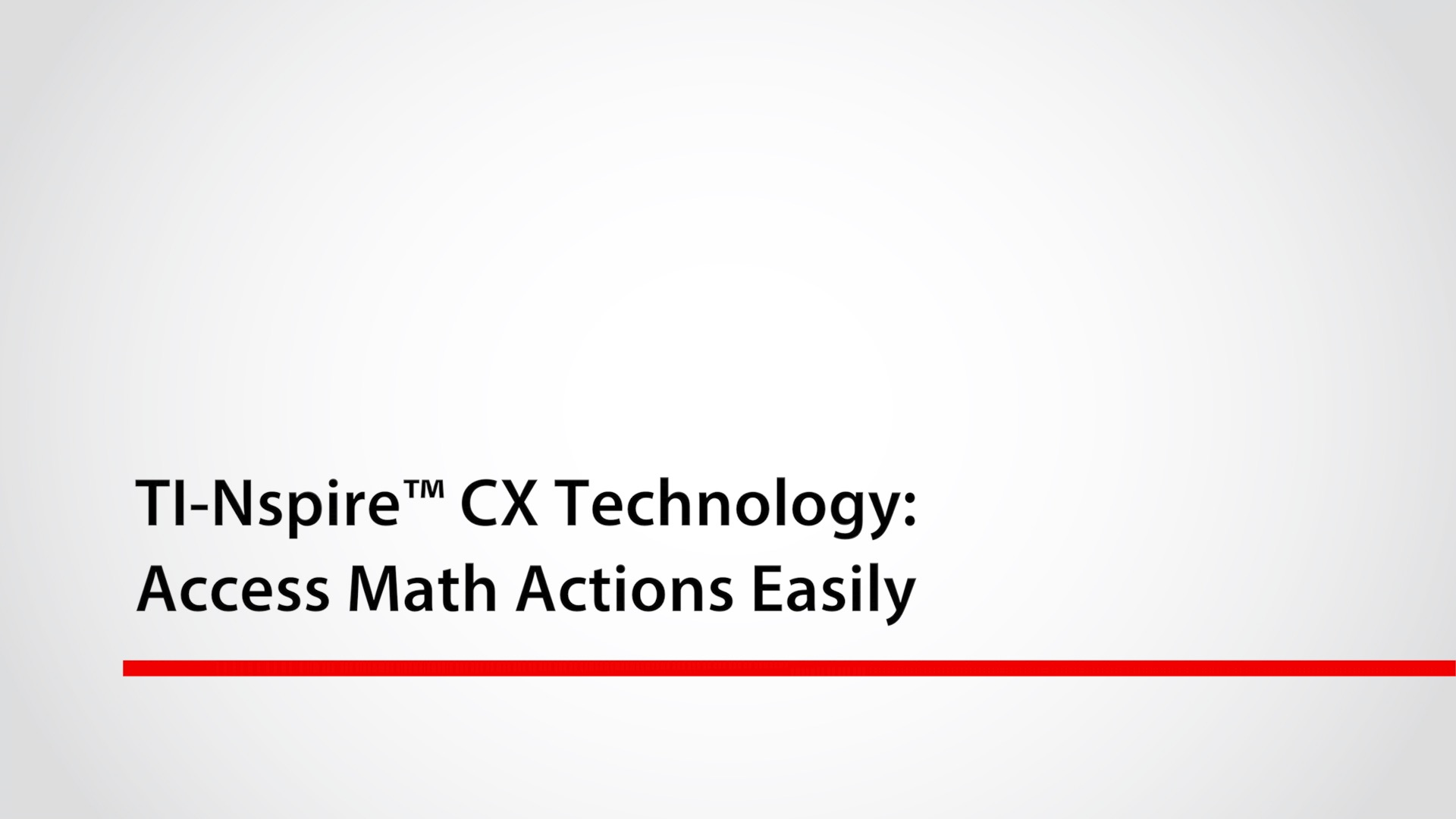 Access Math Actions Easily