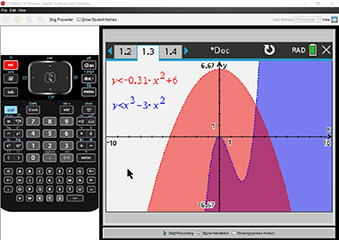 TI-Nspire CX Premium Teacher software live presenter Screenshot