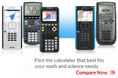 Comparison picture of TI calculators: TI-Nspire CX II, CX II CAS, TI-83 plus, TI-84 Plus CE Python and TI-89 Titanium