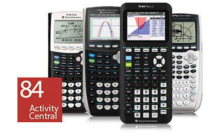 84 Activity Central - for TI-84 Plus family of Graphing calculators