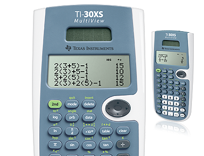 Texas instruments ti-30xs multiview calculator manual.