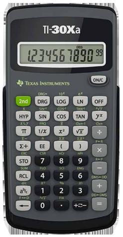 Texas instruments ti30xa scientific calculator support and manuals.