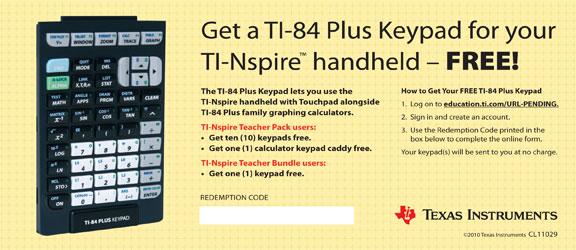 Ti 84 keypad for nspire cx