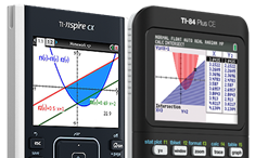 TI-Nspire CX and TI-84 Plus CE graphing calculators