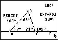 Interior Exterior Angles Of A Triangle Geometry