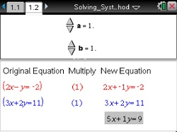 A1 U5 Solving Systems by the Elimination Method_sm