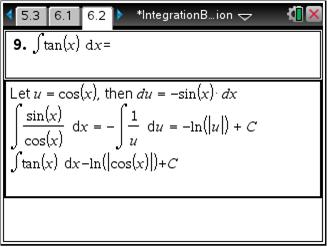 Calculus: Integration By Parts: Calculus: TI Math Nspired