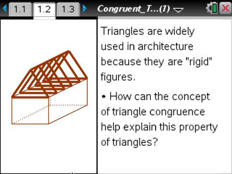Geometry congruent triangles geometry ti math nspired for Triangle concept architecture
