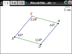 how to find the angles of a kite